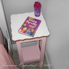 Bedside table.